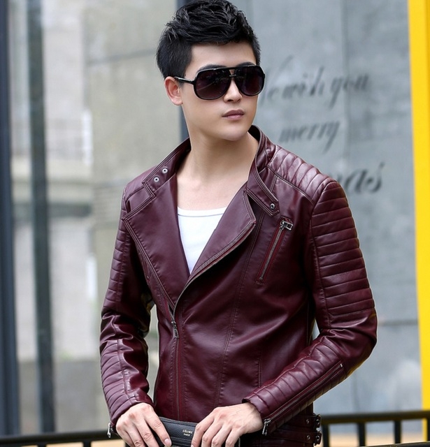 Free shipping,2017 Hot Sale Fashion Men's Leather Jacket Men's Casual quality brand motorcycle leather jackets men coat