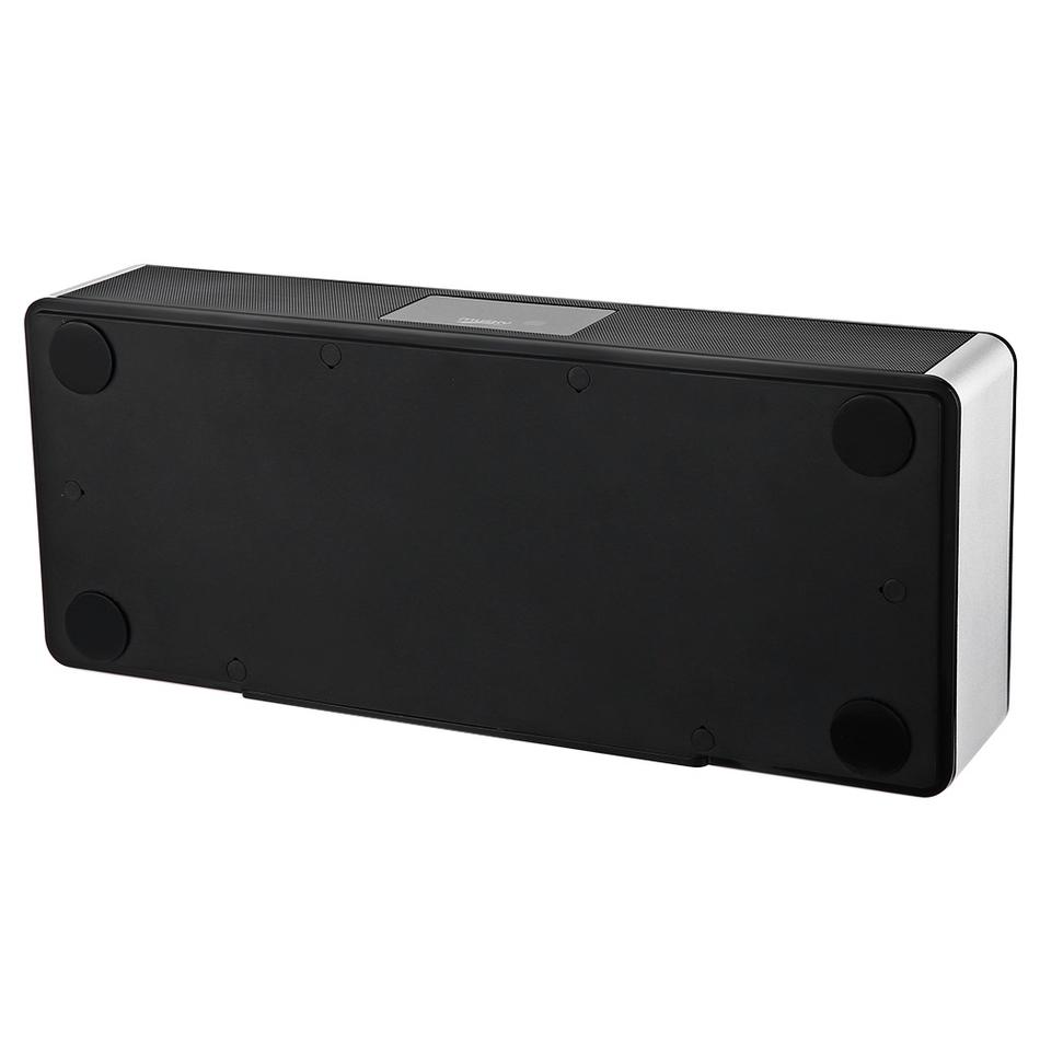 Prix pour MUSQUÉE DY-19 Mini Simple Design De Mode Bluetooth Haut-Parleur télécommande LED affichage chargé par adaptateur secteur et USB