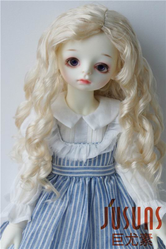 купить JD285 23-25cm Blyth Doll wigs 1/3 SD Long wave Nobel princess BJD wig 9-10 inch synthetic mohair d дешево