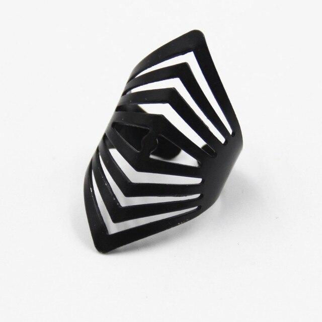 Новая Мода 2017 Черный Открытие Кольцо 4 Шт. Кольца Установить Высокое качество Midi Mid Пальцев Костяшки Комплект Прокладок для Женщин Ювелирные Изделия подарок