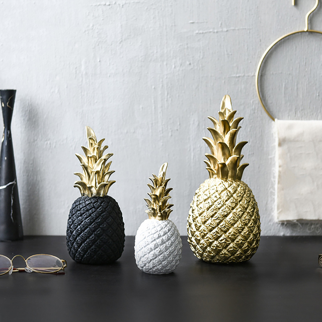 Nordic Modern Pineapple Fruit Living Room Wine Cabinet Window Desktop Home Decor Table Decoration Crafts home accessories 2