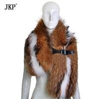 Women's Natural Real Fox Fur Scarf Fox Fur Collar Scarves Soft Fur Scarf Neck Warmer