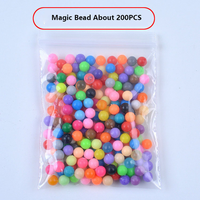 100-1000Pcs/Set 24 Colors 5mm Water Spray Aqua Perlen Magic Beads Educational 3D Puzzles Accessories Kit for Children Kids Toys(China)
