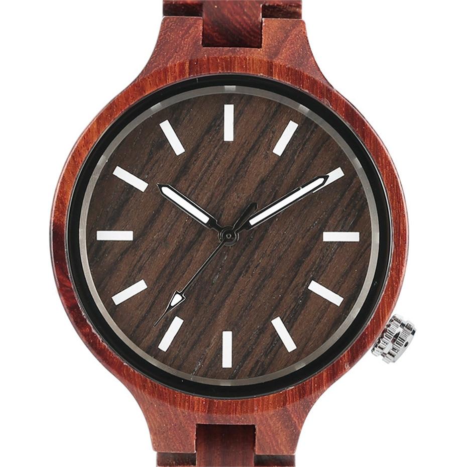 YISUYA Fashion Natural Simple Casual Wood Bamboo Wooden QuartzWatches Ladies` Bracelet Clasp Analog Women Gift Clock Relojes (20)