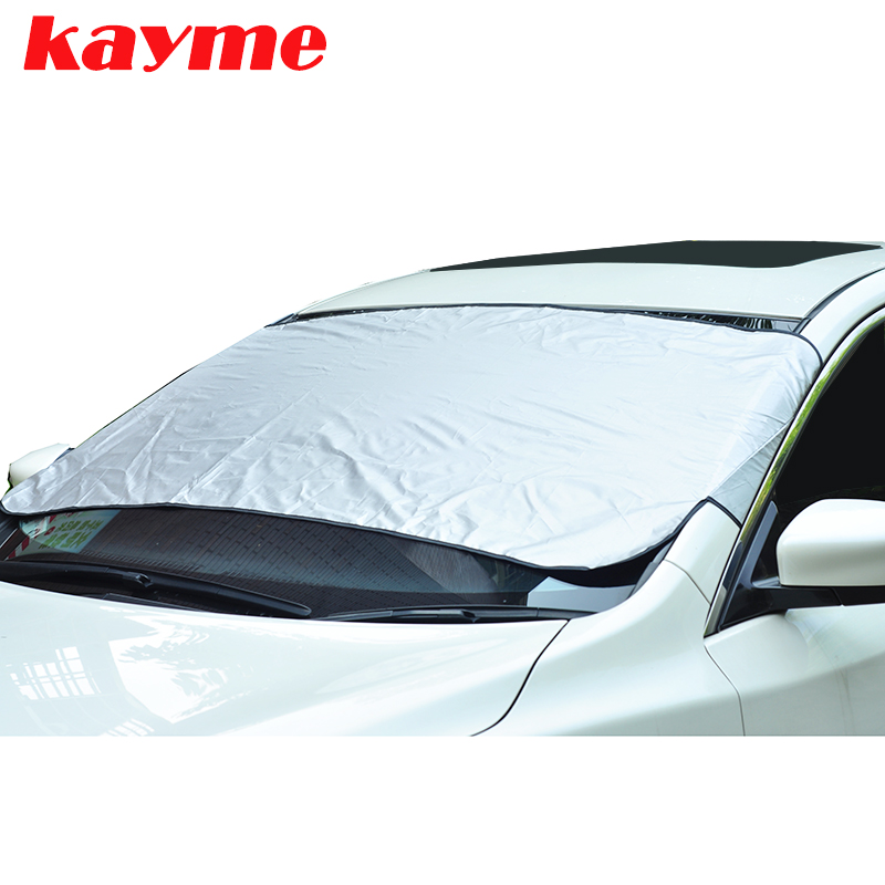 kayme Car Windshield Sunshade auto Windshield Protector Anti Frost Snow ice Windscreen Cover for BMW lada toyota