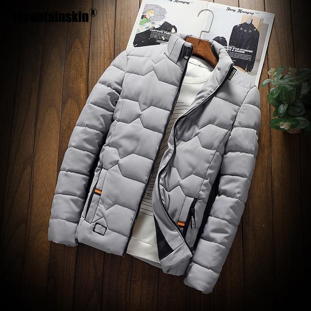 Mountainskin Winter Men Jacket 2020 Men's New Casual Thicken Warm Cotton Jacket Slim Clothes Youth Soild Jacket Men's Wear SA743 2