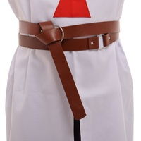 Vintage Cosplay Medieval LARP Viking Battle Knight PU Leather Waistbelt 2 3 Meter Length