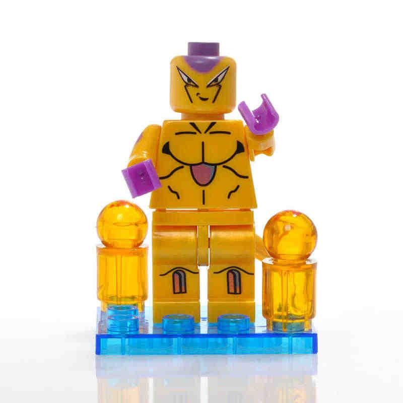 ONSHINE BIG  Dragon Ball Z Super Saiyan Son Goku Action Figure Toy Dragonball Z Brick Head Mini Building Blocks