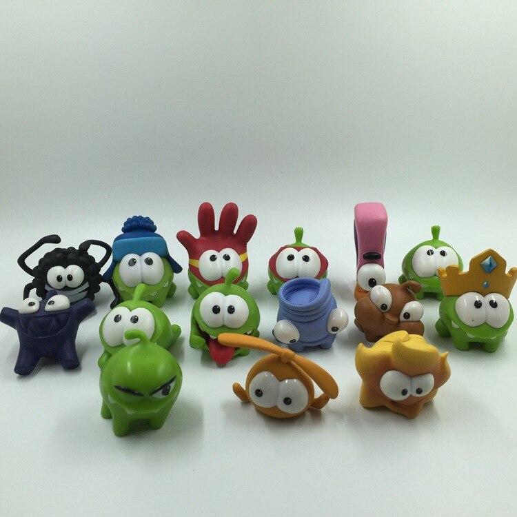 100pcs 3 5cm Cartoon anime cut the wire Action Figures Dolls kids PVC model green frog