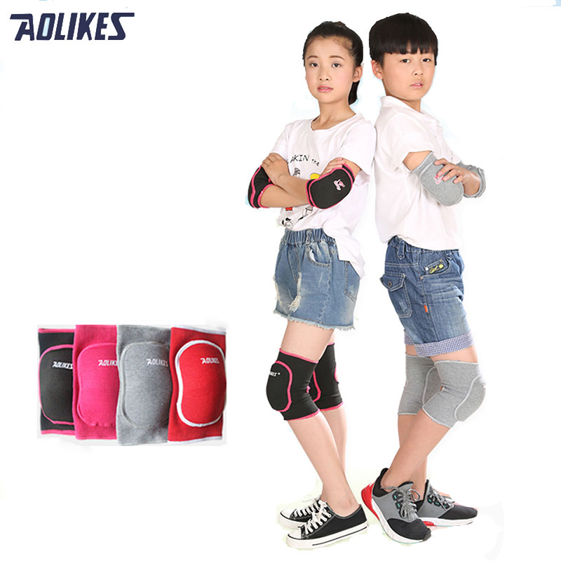 AOLIKES 1 Pair Kids Knee Support Baby Crawling Safety Dance Volleyball Knee Pads Sport Gym Kneepads Children Knee Support 24 12 200mm od id length brass seamless pipe tube of astm c28000 cuzn40 cz109 c2800 h59 hollow bar iso certified free shipping