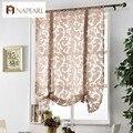 Cocina corto cortinas cortinas cortina cortina de la cocina persianas romanas cortinas jacquard de lujo de estilo Europeo cortina decorativa