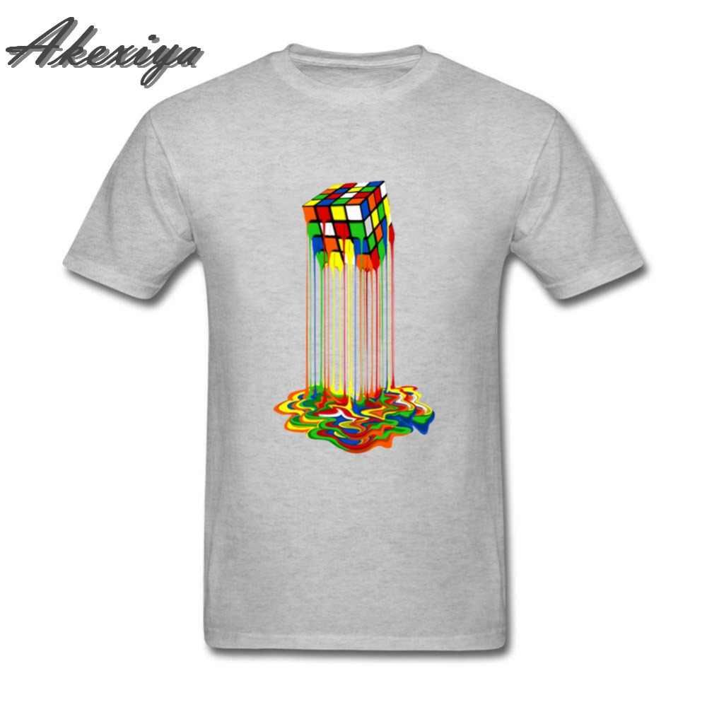 2019 летние новые мужские футболки с короткими рукавами, геометрические Кубик Рубика, футболка s The Big Bang Theory, Стильная дизайнерская футболка с принтом Кубик Рубика