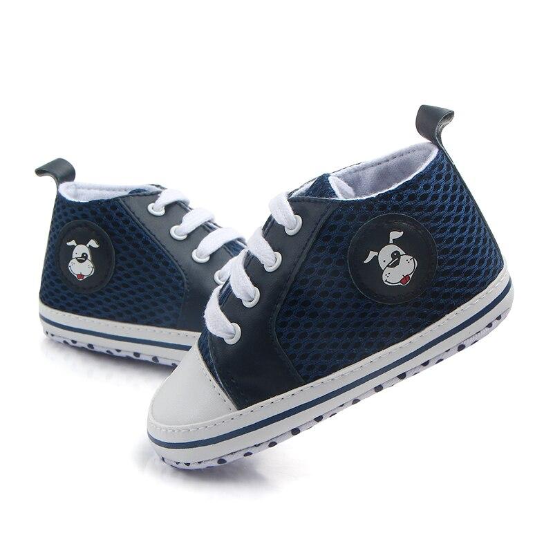 ce4ff1f29 Baratos Sapatos de Bebê Branco de Malha Confortável Infantil Meninos Da  Criança Botas Macias Sapatinhos de