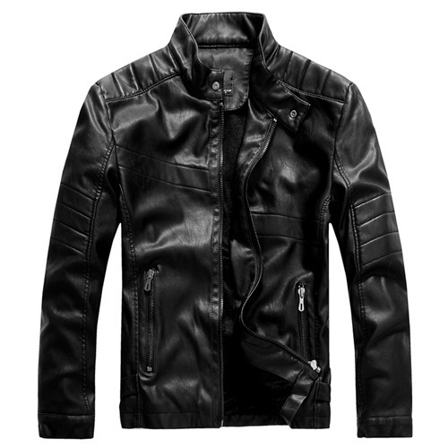 2017 New Spring Autumn Male Motorcycle Leather Jacket Men Jaqueta Couro Masculino Coat  Bomber Leather Jacket
