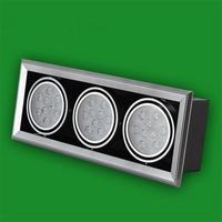 27 Вт светодиодные огни горшок бобов высокое Мощность решетка лампы AC85-265V Освещение в помещении супер яркий сетки Алюминий встраиваемые Под...
