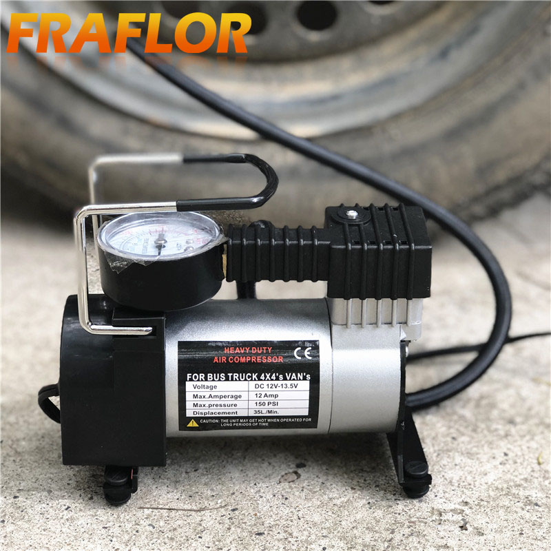 Compressor Inflator Pump 12 Volt Air 150 PSI Heavy Duty For Tyres Cars Bike