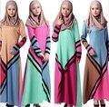 Vestido para las mujeres Islámicas vestidos de dubai abaya musulmán ropa Islámica Musulmán del abaya kaftan Vestido hijab jilbab turco 033