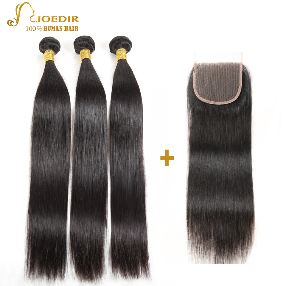 Joedir Brazilian Straight Hair Bundles With Closure 3 Bundle Deals 4 - Skönhet och hälsa - Foto 2