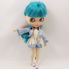 Neo Blythe Doll Denim Coat With Pants & Tassels
