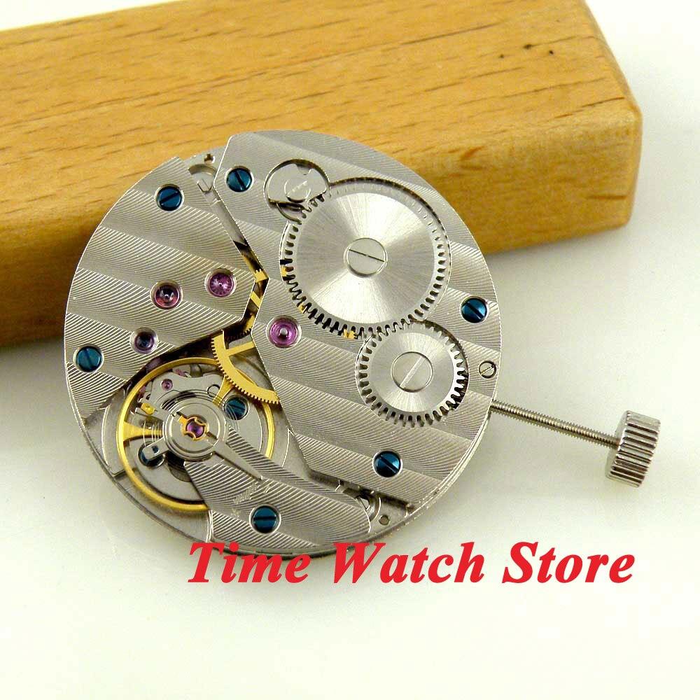 Klasyczne 17 klejnotów mechaniczny 6497 ręcznie nakręcany ruch pasuje zegarek męski M14 w Tarcze do zegarków od Zegarki na  Grupa 1