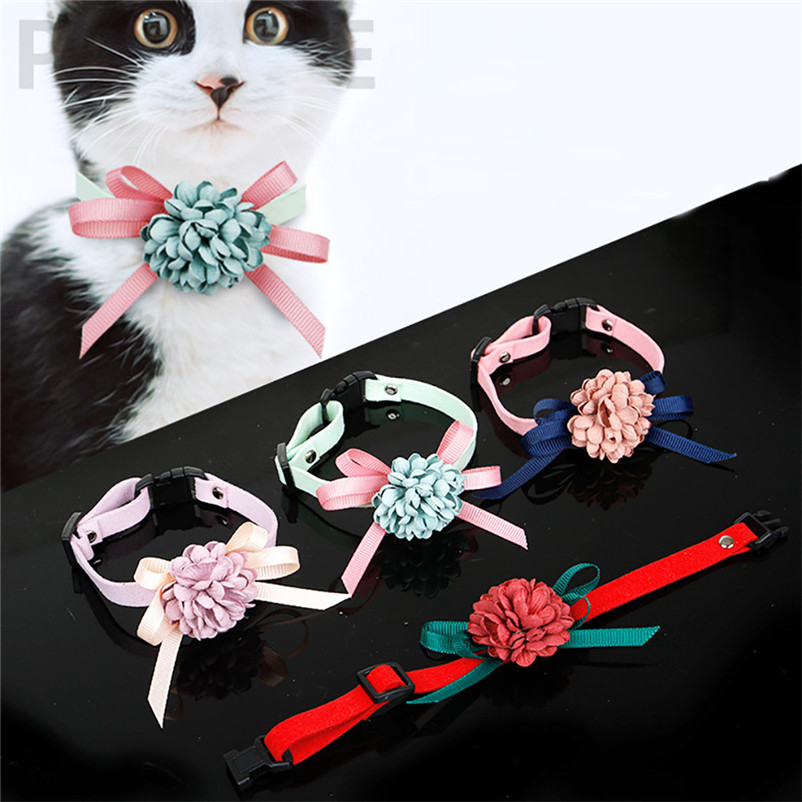 Cute Collar for cats Bowknot Adjustable  Dog Puppy Pet Collars Necklace Accessories pet Product Leash and Harnesses A15