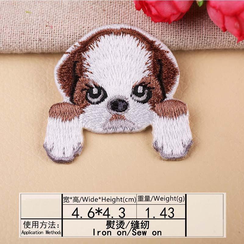 1 шт., нашивка для вышивания собаки, термопередача, гладить на вышивать на пачках для одежды DIY, футболка, тканевая наклейка, декоративные аппликации 47267 - Цвет: F