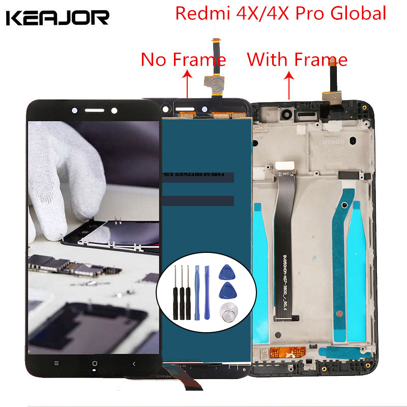 For Xiaomi Redmi 4X LCD Screen Tested Lcd Display+ Touch Screen with Frame Digitizer Replacement for Xiaomi Redmi 4X Pro 5.0For Xiaomi Redmi 4X LCD Screen Tested Lcd Display+ Touch Screen with Frame Digitizer Replacement for Xiaomi Redmi 4X Pro 5.0