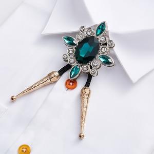 Image 3 - Free Shipping Summer mens male man fashion casual Retro Cross Jeweled Rope Large Diamond Korean Bow Tie BOLO Poirot TIE necktie