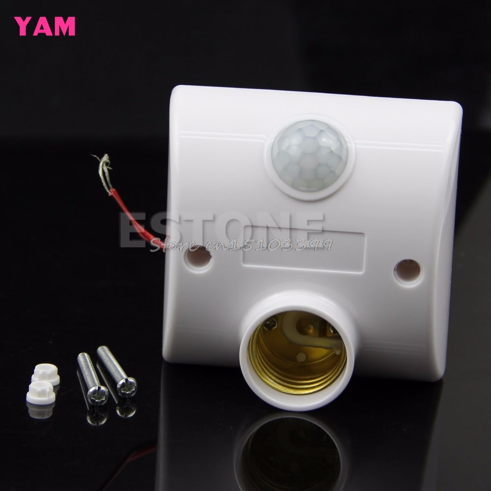 E27 220V Infrared Motion Sensor Automatic Light Lamp Holder Switch New G08 Drop ship sensor automatic light lamp ir infrared motion control switch energy saving y103