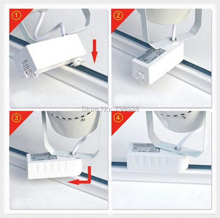 Универсальный 2 провода рельсы точечные светильники светодиодный Трек освещение фитинг черный белый 1 фаза алюминиевые рельсы 2 линии общие рельсы
