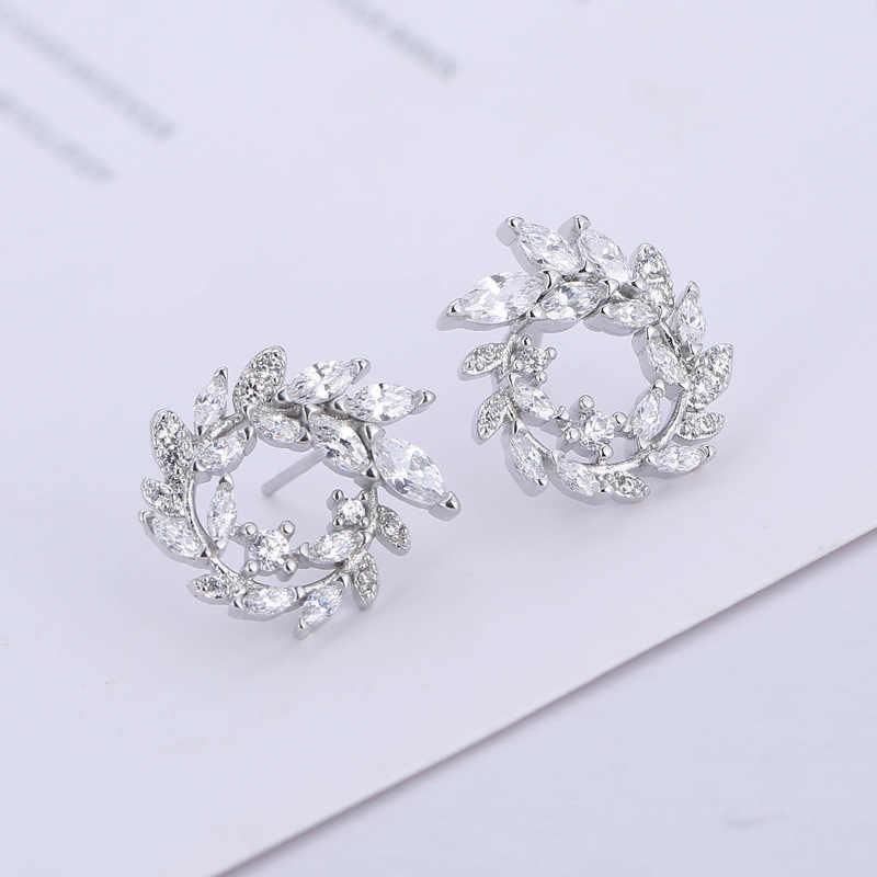 2018 moda 925 prata esterlina redonda strass parafuso prisioneiro brincos jóias pendientes brincos moda jóias