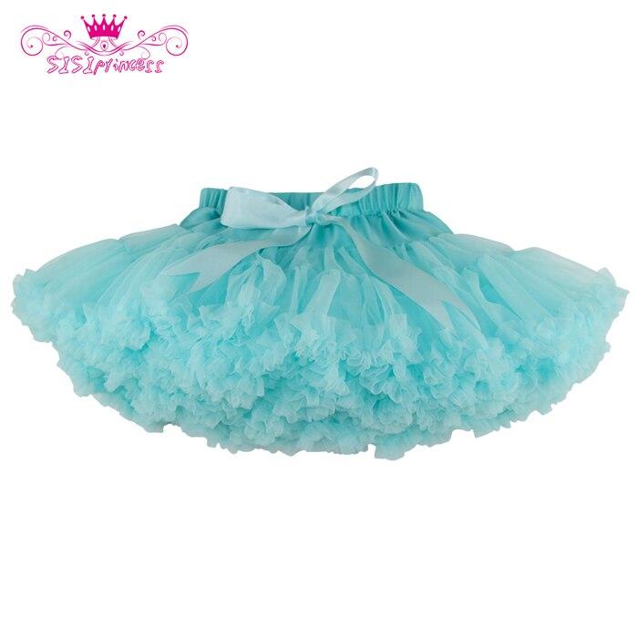 2015 New Hot 3 New Colors Mint Green/Apricot/Smoky Grey Baby Girl Fluffy Pettiskirt Girls Tutu Skirt 5