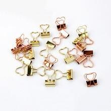 12 шт креативные металлические зажимы для бумаги в форме сердца