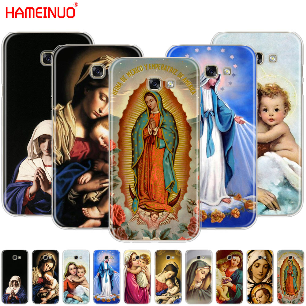 HAMEINUO Virgin Mary Christian Christmas cell <font><b>phone</b></font> <font><b>case</b></font> cover for <font><b>Samsung</b></font> <font><b>Galaxy</b></font> <font><b>A3</b></font> A310 A5 A510 A7 A8 A9 2016 <font><b>2017</b></font> 2018 image