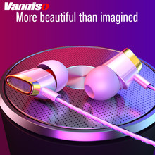 Vanniso Sport Stereo Bass Earphones Hands-Free Headset with Mic In-Ear earphone for iPhone Xiaomi Huawei Mobile Phone Computer huawei wire sport headsets in ear earphone with earbuds super bass headset for mobile phone computer gaming business honor am175