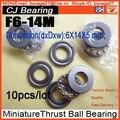 F6-14M  6*14*5MM 10PCS/LOT mini Thrust  ball bearing f6-14