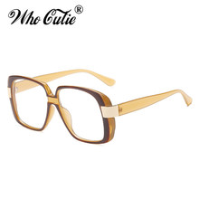 bebb55d2cc WHO CUTIE Oversized Square Sunglasses Women Luxury Brand Designer  TortoiseShell Frame 2018 Trendy Unisex Sun Glasses Shades 651