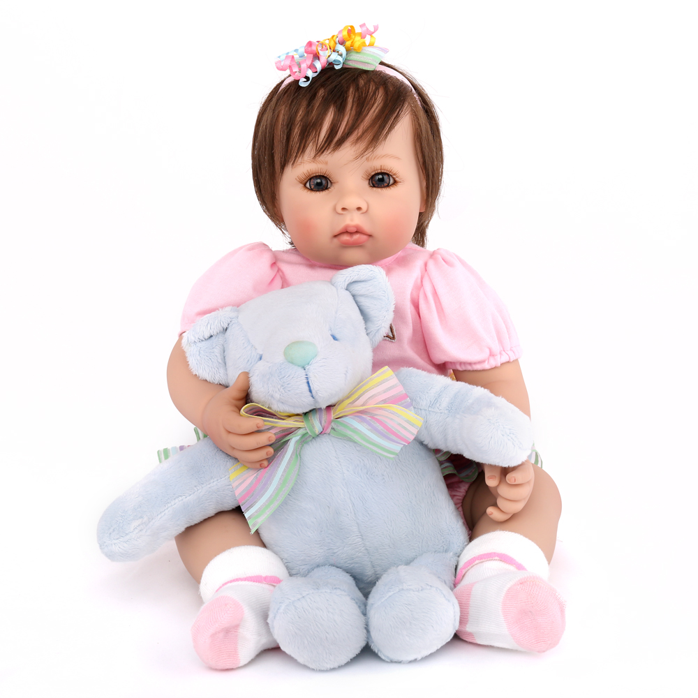 NPK DOLL Reborn baby doll adorable girl princess 20 inch soft silicone favorite toys kids playmate boys birthday gift lovely 1pcs 85cm creativity dragoncat dolls plush toys funny expression totoro large doll lovely doll birthday gift girl s favorite