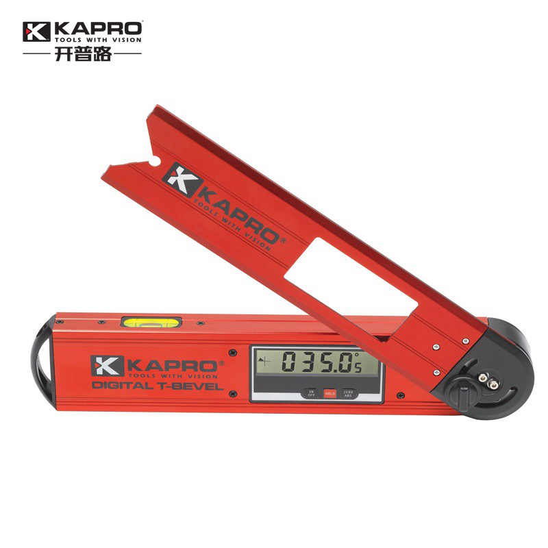 KAPRO Woodworking Electronic Digital Display Level inclinometer Aluminum alloy high precision protractor Woodworking angle kapro high precision aluminum alloy horizontal ruler 360 degree rotating bubble level 40cm 60cm