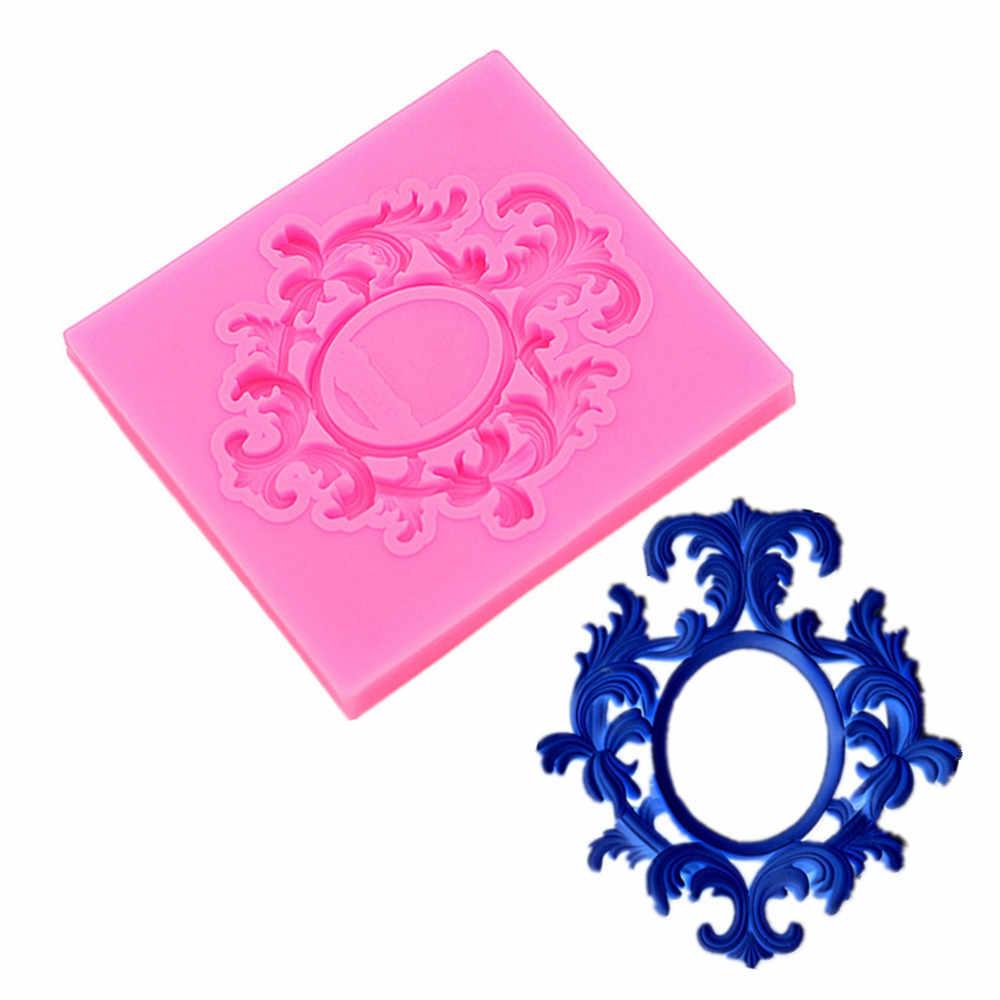 Gadgets Fondant Moldes Pequeno Oval Elegante moldura de borracha de Silicone flexível de argila o molde de alimentos seguros, fondant, cerâmica, molde de jóias