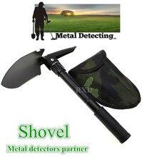 Military Folding Shovel Survival Spade Emergency Garden Camping Outdoor Tool metal detector Supporting tools gold finder shovel недорого