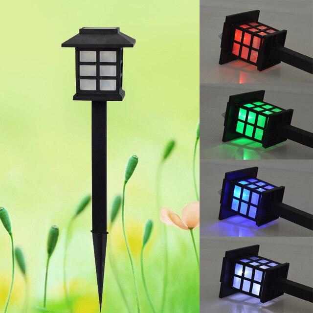 2 teilelos outdoor garten solar rasen lampen scheinwerfer led pfad flur laterne hinterhof landschaft - Hinterhof Landschaften Bilder