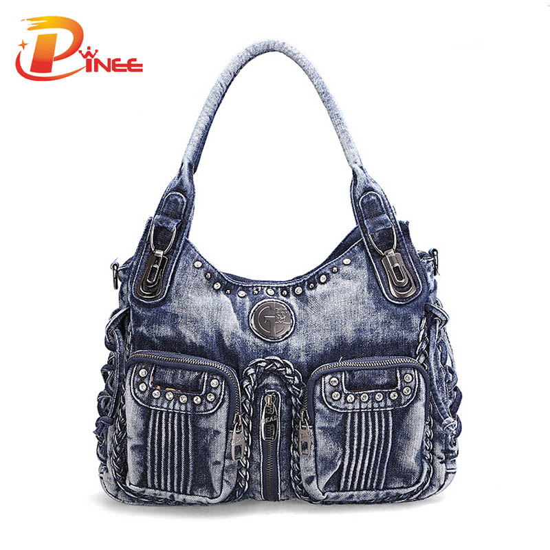 Awesome Womens Patent Blue Buckles Satchel Bag KCMODE