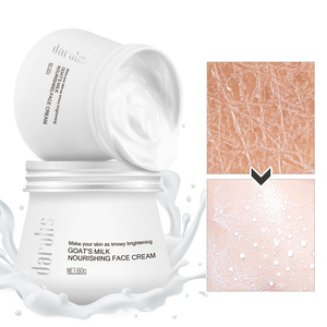 Image 2 - 80g Goat Milk Nourishing Face Cream Deep Moisturizing Body Lotion Bubble Whitening Facial for Skin Care Hand Deep Hydration Hot