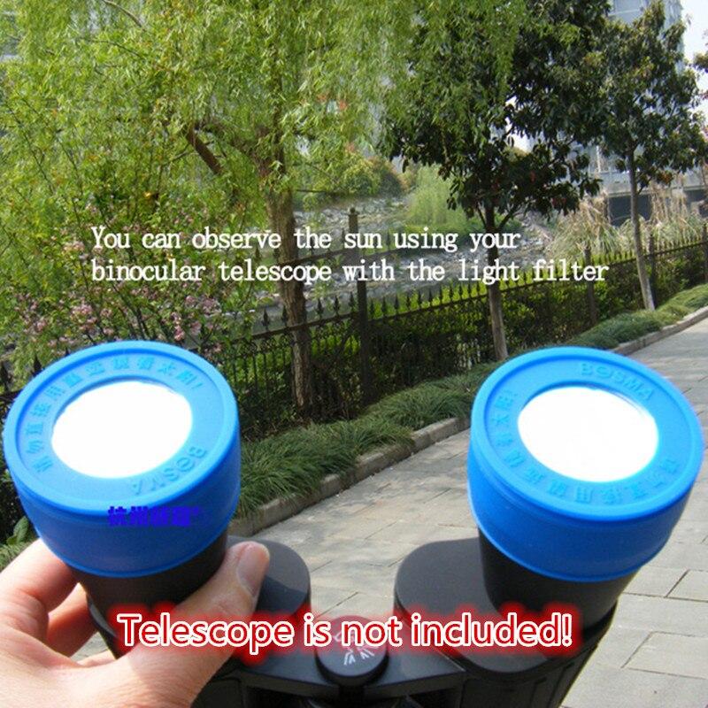 2PCS Binoculars Telescope Accessory 40mm~50mm Baader Solar Film Sun Filter with Density 5.0 for Solar Observition  цены