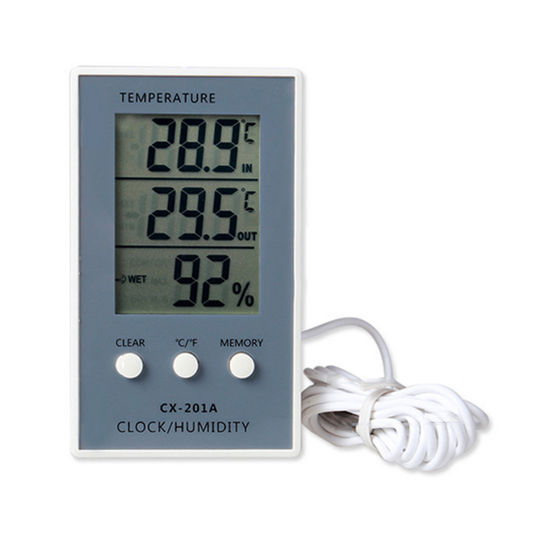 Digital Thermometer Hygrometer Indoor Outdoor Temperature Humidity Meter C/F LCD Display Sensor Probe Weather Station mini 2 0 lcd car indoor thermometer hygrometer black 10 c 50 c 20% 95% rh 1 x lr44