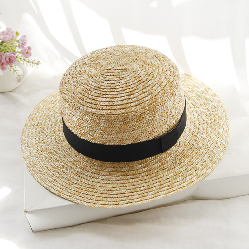 Beach-Hat Fedora Straw Boater Female Summer Women's Lady Brand Bowknot Casual Flat Classic