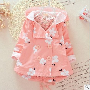 2016 newborn baby Children's clothing brand baby coat outwear cute baby jacket infant girl hoody cardigan trench coat wholesale