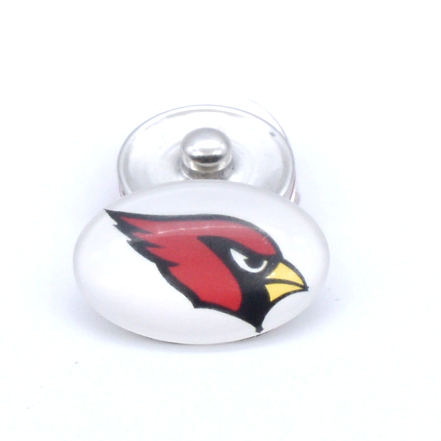 Snap Button 18mmX25mm Arizona Cardinals Charms Snaps Bracelet for Women Men Football Fans Gift Paty Birthday Fashion