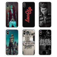 For Samsung Galaxy Note 8 9 S9 S10 A8 A9 Star Lite Plus A6S A9S Transparent Soft Shell Covers Machine Gun Kelly MGK Pop Poster(China)